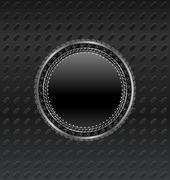 Heraldic circle shield on titanium background Stock Illustration