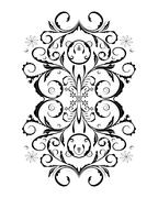 Ornament in flower style Stock Illustration