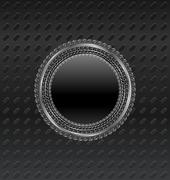 Illustration heraldic circle shield on titanium background Stock Illustration
