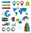 Stock Illustration of set infographic elements for design web site layout