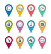 set business pictogram icons for design your website - stock illustration
