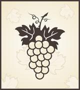 retro engraving of grapevine - stock illustration