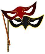 realistic illustration of carnivals mask - stock illustration