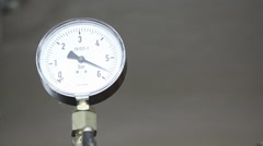 Barometer in measuring process Stock Footage