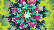 Stock Video Footage of vj, varicoloured flowers of abstraction. 3d, stereoscopic, anaglyph