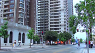 Stock Video Footage of 0767 Streets of Santiago, Chile