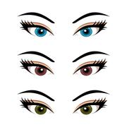 Set female eyes isolated (3) Stock Illustration