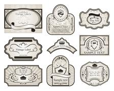set retro variation vintage labels - stock illustration