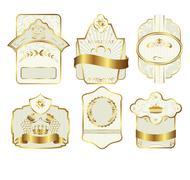 set retro variation vintage labels - stock illustration