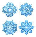 Stock Illustration of set of variation snowflakes isolated