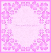 Beautiful wedding  pink frame Stock Illustration