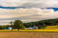 Stock Photo of beautiful farm scene in rural york county, pennsylvania.
