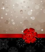 christmas background with set balls for holiday design - stock illustration
