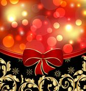 Stock Illustration of christmas floral ornamental decoration for design packing