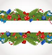 christmas elegance card with holiday decoration - stock illustration