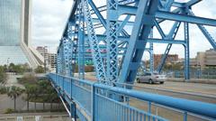 Main street bridge traffic Stock Footage