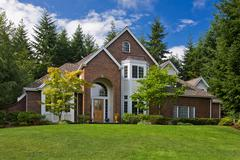 Luxury Brick Home Stock Photos