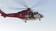 Stock Video Footage of Rescue Helicopter Hoist