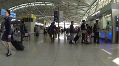 Tracking shot inside Incheon International Airport_01 Stock Footage