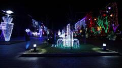 Christmas street Stock Footage