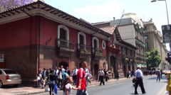 0818 Streets of Santiago, Chile Stock Footage