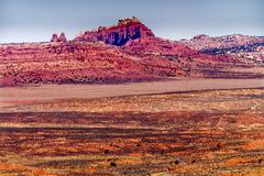 Painted desert yellow grass lands orange sandstone red fiery furnace arches n Stock Photos