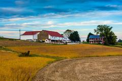 a farm in rural lancaster county, pennsylvania. - stock photo