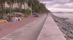 Manila bay baywalk time lapse Stock Footage