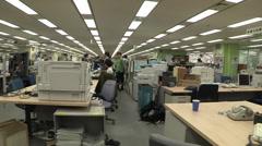 Newsroom of the Asahi Shimbun Stock Footage