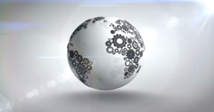 Earth made of cogs and wheels Stock Footage
