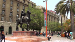 0814 Armas Square, Santiago, Chile Stock Footage