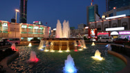 Stock Video Footage of Fountain at night in Manama, Bahrain