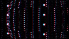 Vj, stars and balls. 3d, stereoscopic, anaglyph. Stock Footage