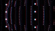 Stock Video Footage of vj, stars and balls. 3d, stereoscopic, anaglyph.