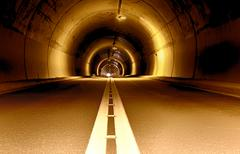 Long tunnel at night Stock Photos