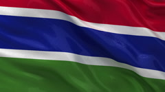 Flag of Gambia - seamless loop Stock Footage