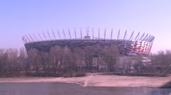 Polish National Stadium Stock Footage