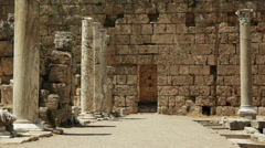 Roman columns and ruins in ancient city  Perge, Turkey - stock footage