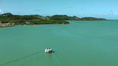 Antigua st. john's 001, view to the shore, turquoise water in foreground Stock Footage