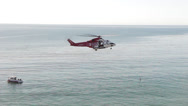 Stock Video Footage of Rescue Helicopter Hovering