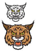 lynx mascot - stock illustration