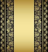 Stock Illustration of gilded floral elements and patterns