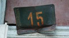 Street number 15 Stock Footage