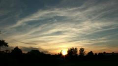 Scenic sundown short Stock Footage