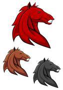 powerful stallion - stock illustration
