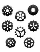 Pinions and gears set Stock Illustration