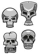 Set of monster skull mascots Stock Illustration