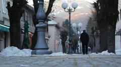 CIty of Kolasin, Montenegro Stock Footage