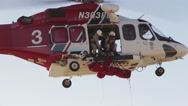 Stock Video Footage of Helicopter Rescue Operation