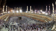 Circling around Kaaba Stock Footage